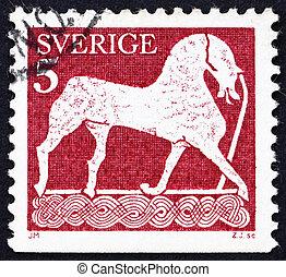 Postage stamp Sweden 1973 Horse, Statuette