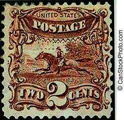 POSTAGE STAMP. U.S., 1869
