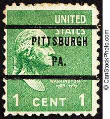 Postage stamp USA 1938 George Washington - UNITED STATES OF...