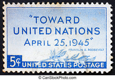 Postage stamp USA 1945 United Nations Conference, San...