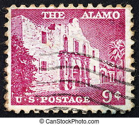 Postage stamp USA 1954 The Alamo - UNITED STATES OF AMERICA...