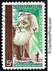 Postage stamp USA 1964 John Muir - UNITED STATES OF AMERICA...