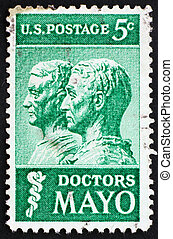 Postage stamp USA 1964 William and Charles Mayo