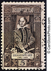 Postage stamp USA 1964 William Shakespeare