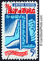 Postage stamp USA 1966 Bill of Rights