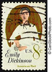 Postage stamp USA 1971 Emily Elizabeth Dickinson