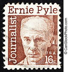 Postage stamp USA 1971 Ernest Taylor Pyle, journalist - ...
