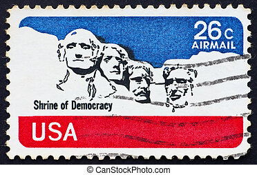 Postage stamp USA 1974 Mt. Rushmore National Memorial