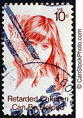 Postage stamp USA 1974 Retarded Child