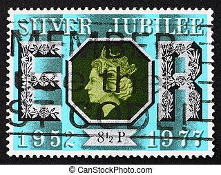 Postage stamp USA 1977 Queen Elizabeth II