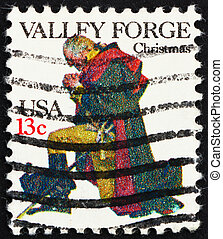 Postage stamp USA 1977 USA Washington at Prayer, Valley...