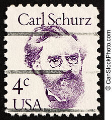 Postage stamp USA 1982 Carl Schurz