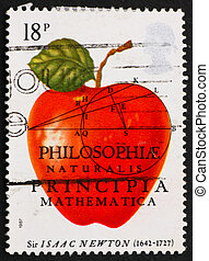 Postage stamp USA 1982 Sir Isaac Newton - GREAT BRITAIN ?...