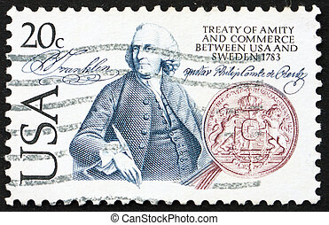 Postage stamp USA 1983 Benjamin Franklin