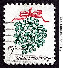 Postage stamp USA 1996 Mistletoe, Christmas Decoration