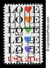 Postage stamp. - USA - CIRCA 1980: A stamp printed in USA...