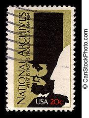 Postage stamp. - USA - CIRCA 1984: A stamp printed in USA...