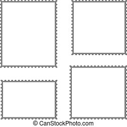 postage stamp vector blank mockup square template post ...