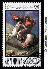 Postage stamp with Napoleon - RAS AL KHAIMA - CIRCA 1969: a...