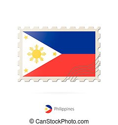 Postage stamp with the image of Philippines flag....