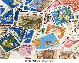 Postage stamps. Background