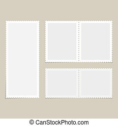 Postage stamps for postcard