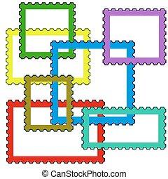 Postage stamps frames