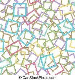 Postage stamps frames pattern