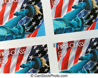 Postage Stamps close up