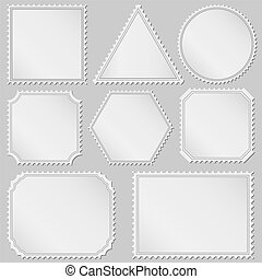 Postage stamps - Set of postage stamps, vector eps10 ...