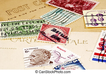 Postage Stamps and Post Cards