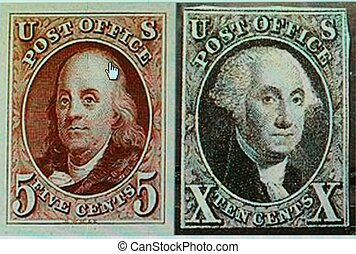 POSTAGE STAMPS, U.S., 1847
