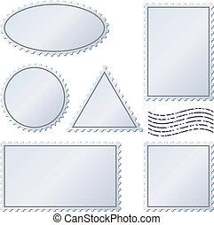 postaköltség, állhatatos, elszigetelt, topog, vektor, white., tiszta