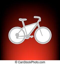 postaköltség, mód, öreg, bélyeg, fénykép, aláír, gradiens, bicikli, háttér, Bicikli,  red-black, vagy