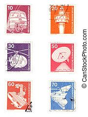 postaköltség, németország, topog, öreg