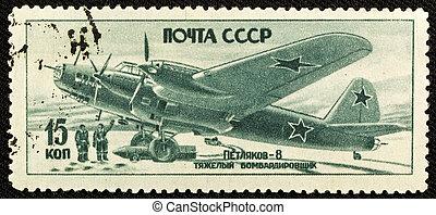 postaköltség, szüret, bélyeg, szovjet-, (1946)