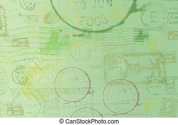 Postal background - Postal stamps background