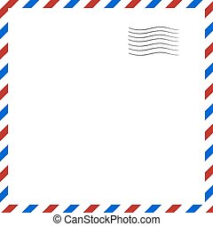 Postal background. Vector illustration. - Postal retro...