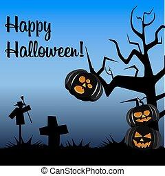 postal, colores oscuros, halloween