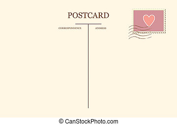 postal, corazón, su