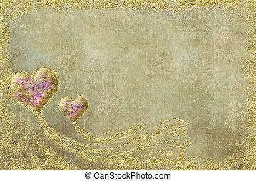 postal, día, tarjeta, valentines
