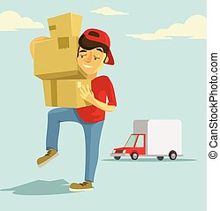Postal delivery courier