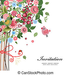 postal, diseño decorativo, árbol