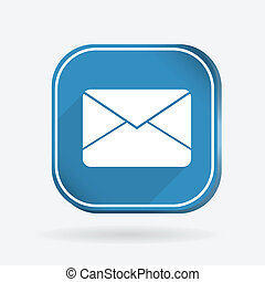 postal envelope. Color square icon