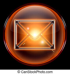 postal envelope icon. - postal envelope icon, isolated on...
