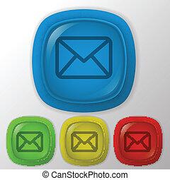 postal envelope. - postal envelope sign.