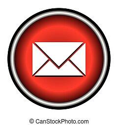 postal envelope sign. e-mail symbol