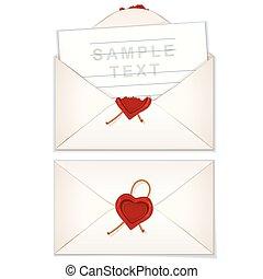 Postal Envelope with Love Letter