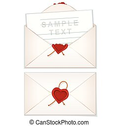 Postal Envelope with Love Letter