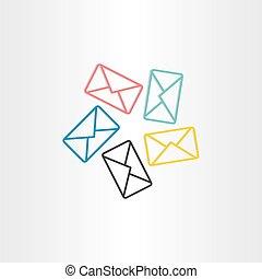 postal envelopes icon design